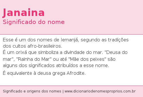janaina | Nomes/Names | Nomes hebraicos, Significados dos
