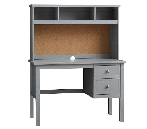Elliott Desk Hutch Pottery Barn Kids Also Available In Chocolate But I Like The Grey And Sold Separately