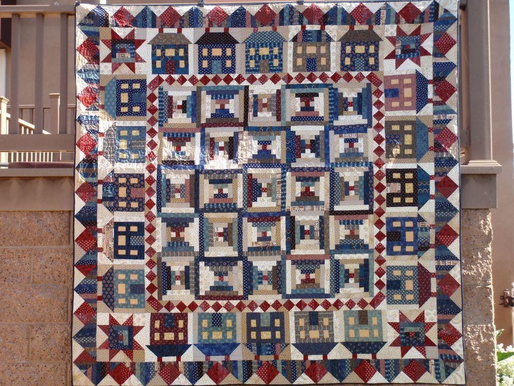 MISS ROSIE'S Cracked Pots Americana Patriotic Shabby House Quilt Kit 41 FQs Plus #MissRosies