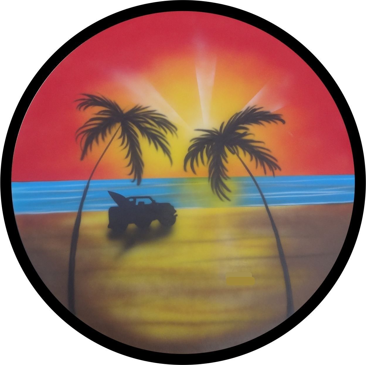 Spare Tire Cover Tropical Beach Sunset and Palm Trees Wrangler RV