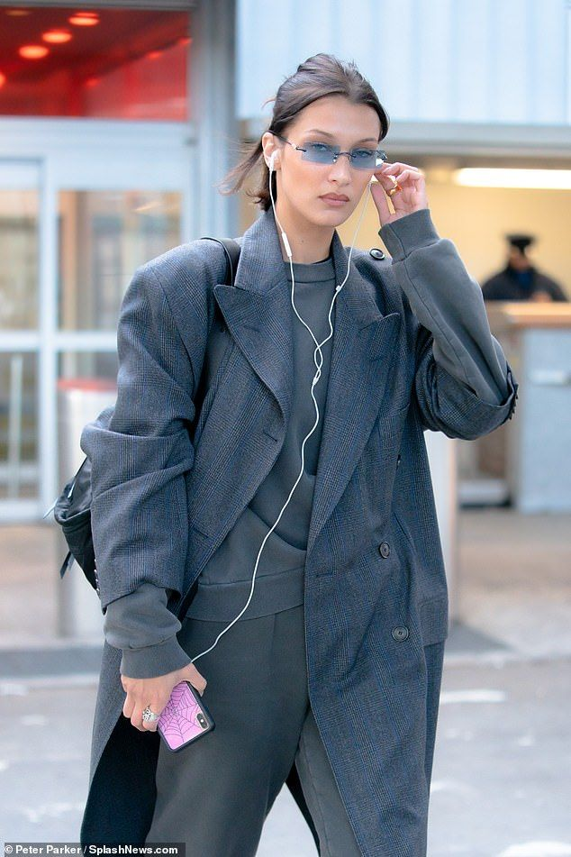 Stylish: Opting for an ensemble that combined comfort and style, Bella wore a pair of loos...