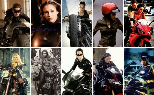 Girls and bikes in movies