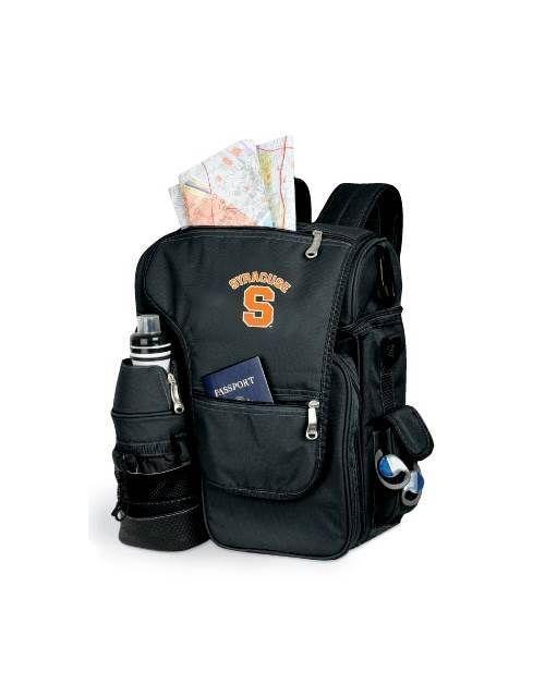 Turismo Embroidered Backpack in Black - Syracuse University Orange  ID  44922   037cea3320976