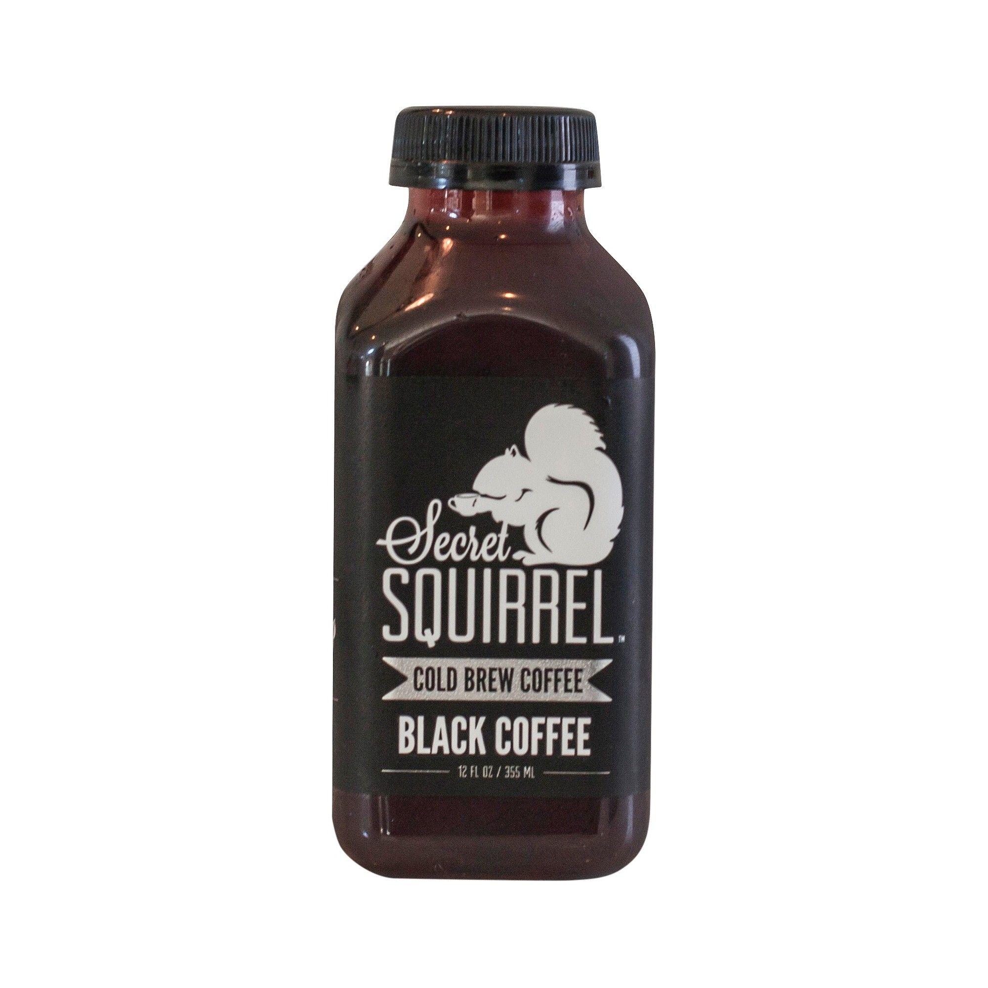 Secret Squirrel Black Cold Brew Coffee 12 fl oz Cold