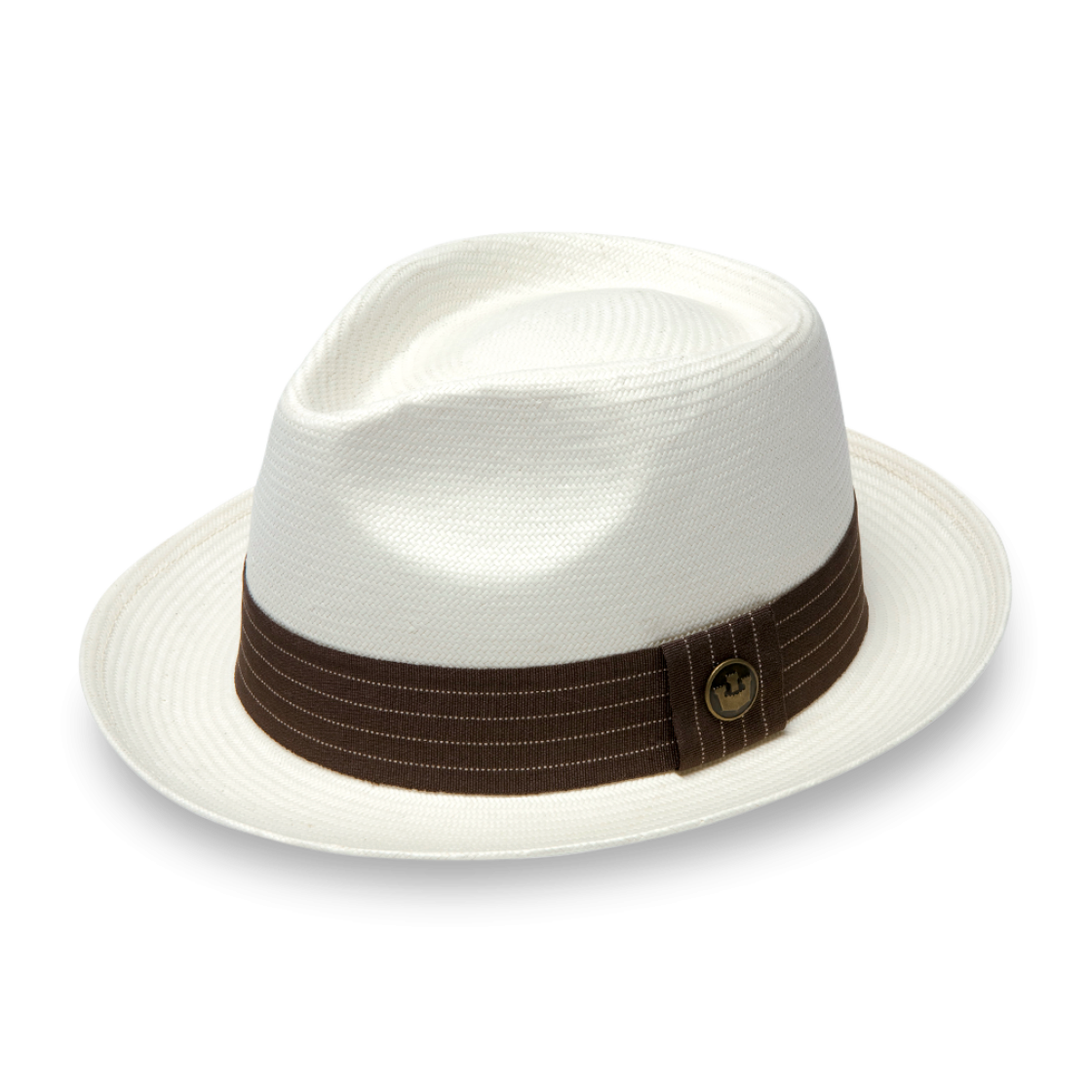 d768c4f3483b4 Snare Stone Straw Classic Brim Fedora hat front view