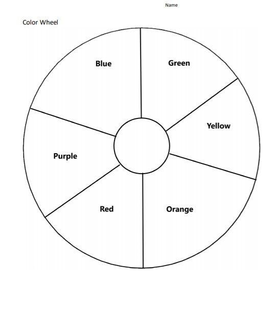 Blank Color Wheel Worksheet Free Download in 2020