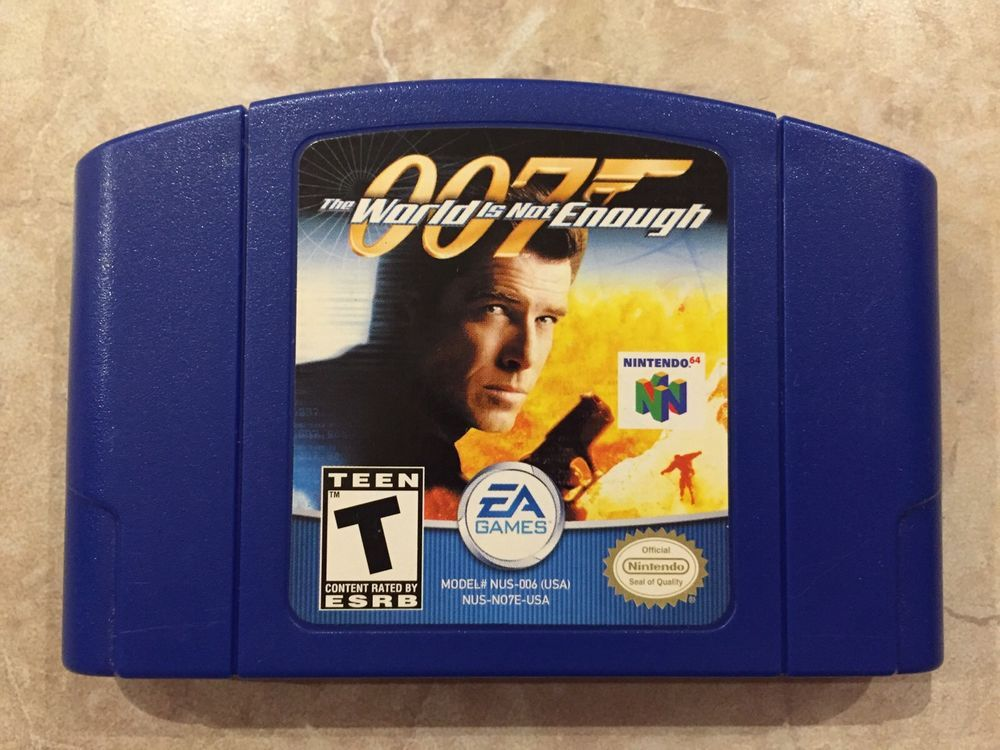 007 The World Is Not Enough Nintendo 64 N64 Game With Images
