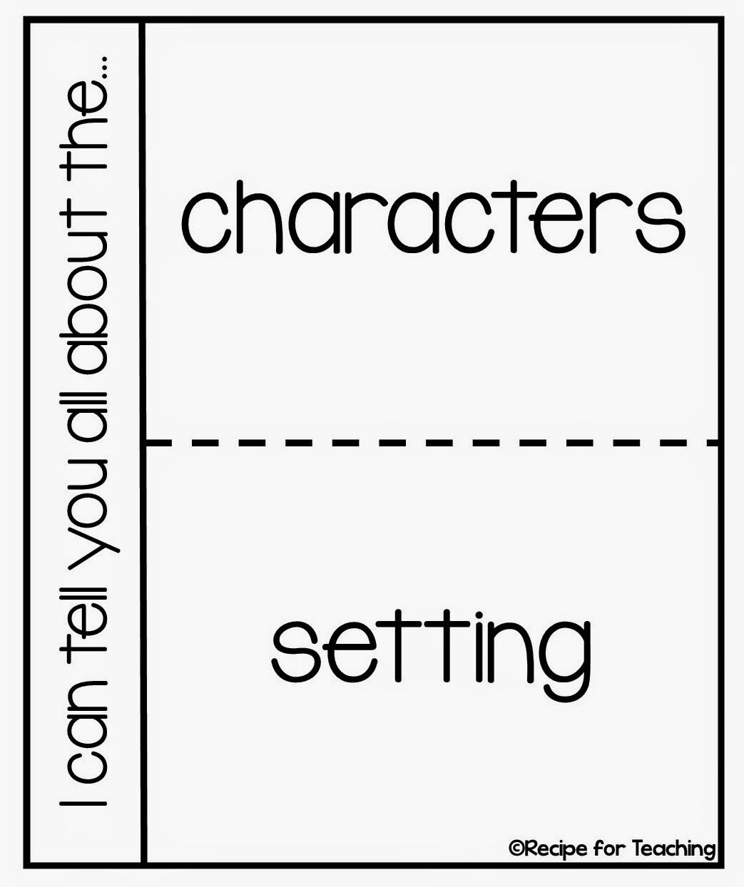 Characters And Setting With A Freebie