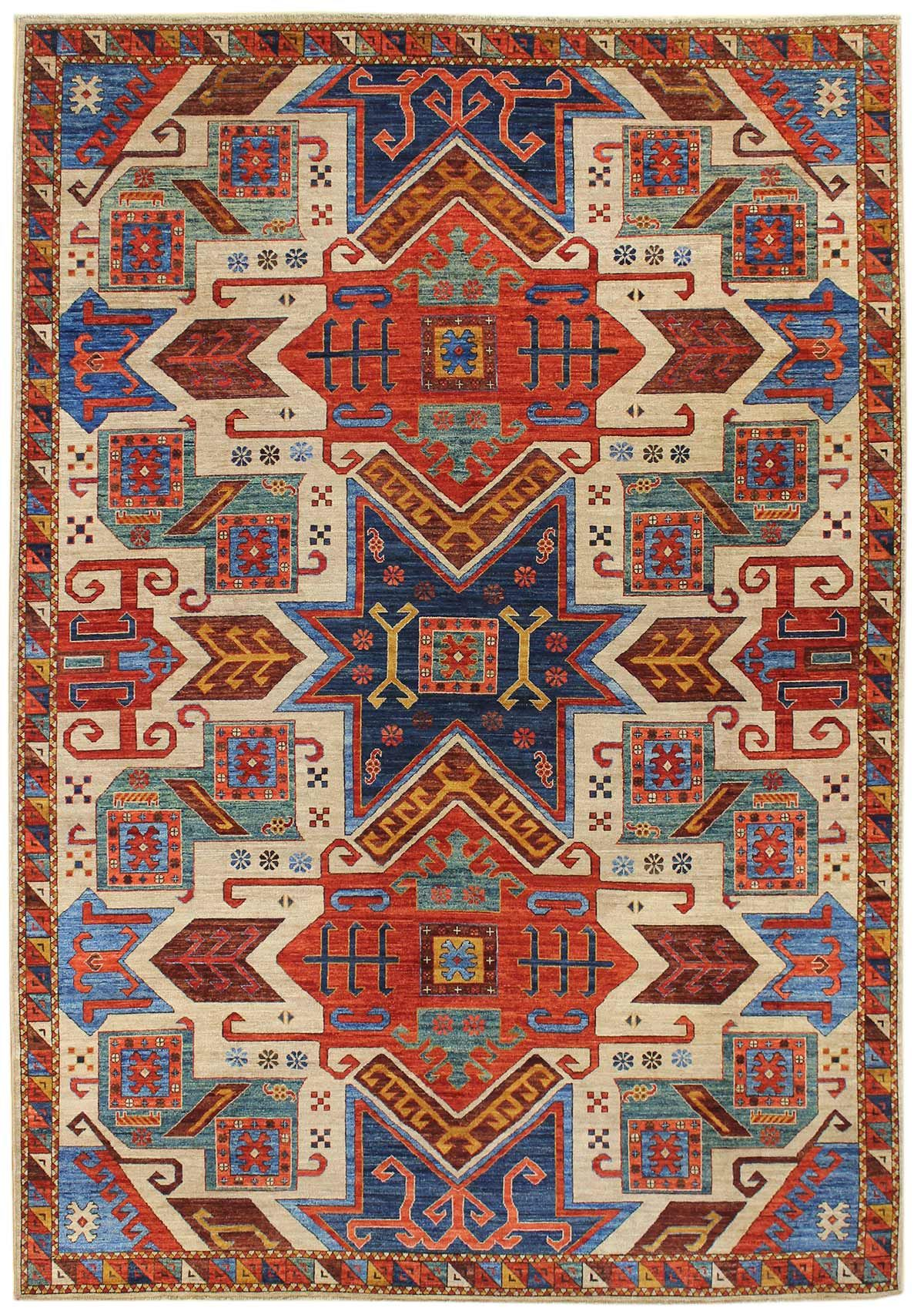Star Kazak Design Rug J44640 Oriental Rug Rugs Area Rugs Cheap