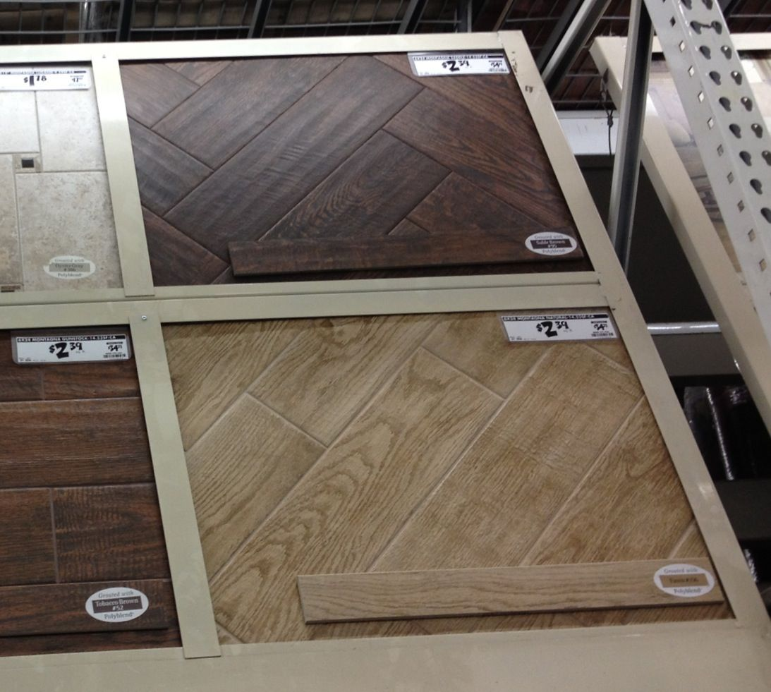 Home Depot Tile That Looks Like Hardwood I Totally Love This Concept And Want To Put It In My Pantry