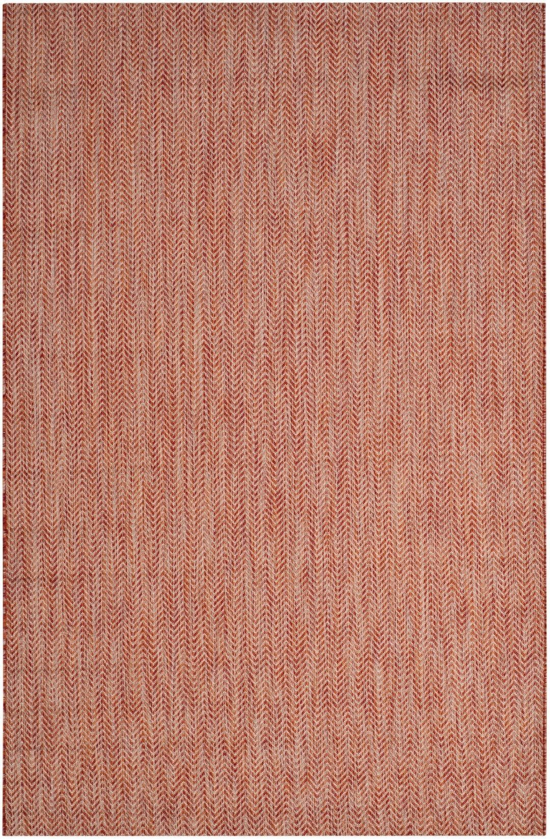 Courtyard Red / Beige Area Rug