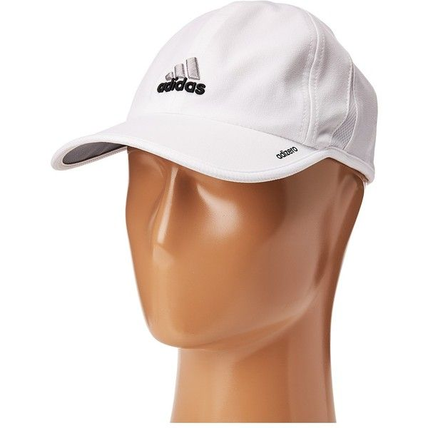 7527cbe57f5 adidas Adizero II Cap (White Black) Caps ( 18) ❤ liked on Polyvore  featuring accessories