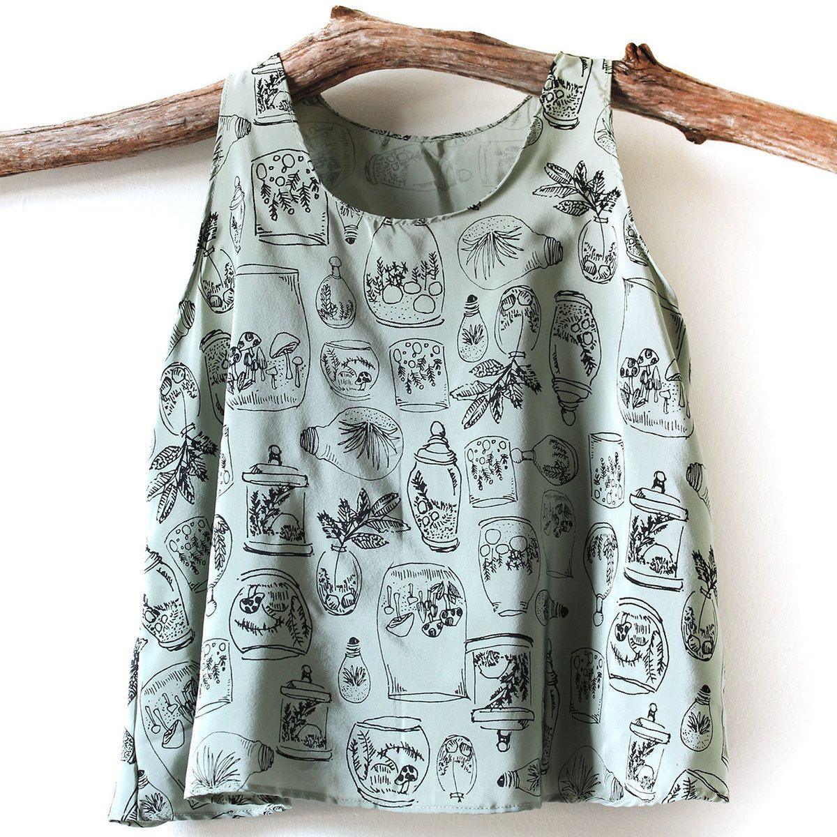 Snoozer Loser // Terrariums Silk Tank // Love the print on this tank top