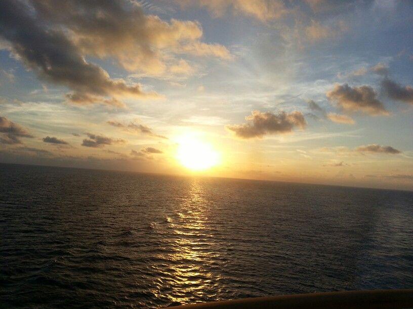 Sunrise over the Atlantic ocean ... it was breath taking