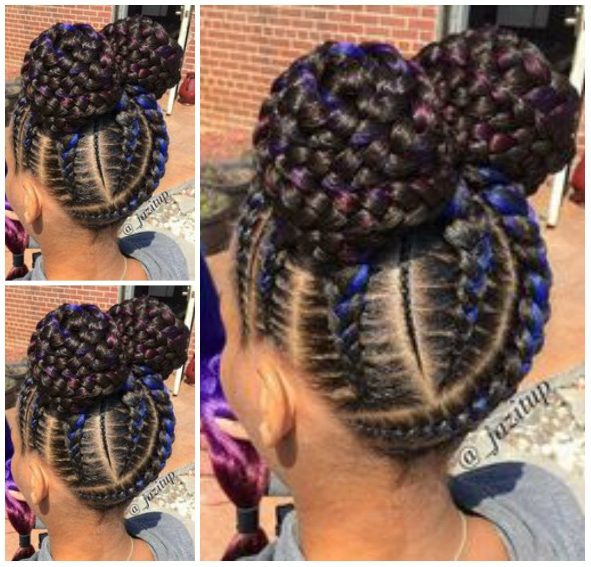 29 Braided Cornrows With Buns For Little Black Girls