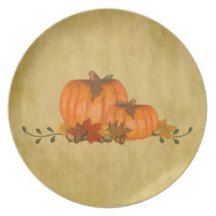 Country Pumpkins Plate by MousefArt.Com (Mouse Country Store)