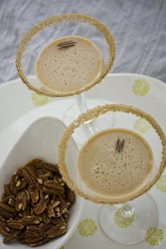 pecan pie martini - i did not need to know that anything like this existed :-)