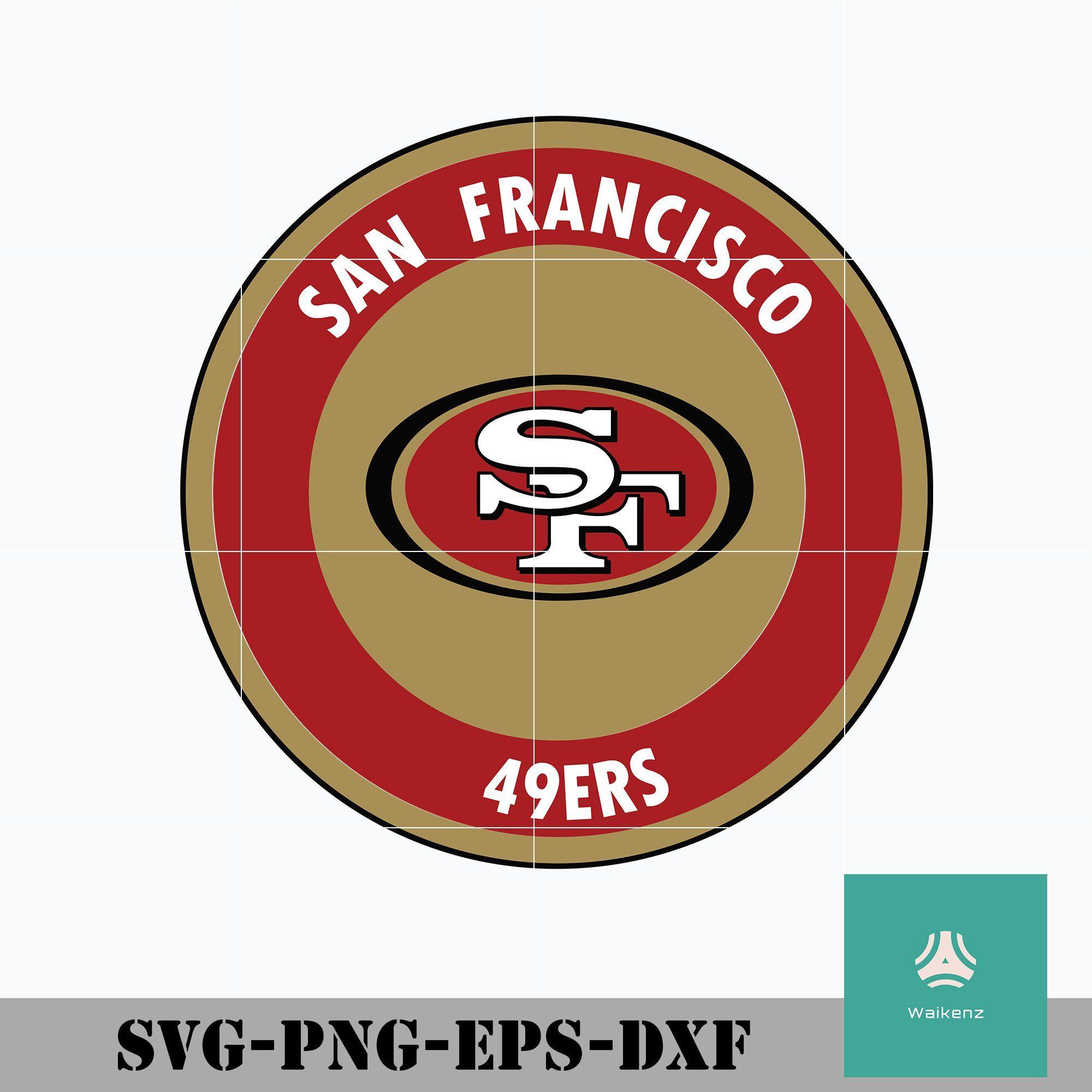 San Francisco 49ers football logo svg, 49ers svg, San