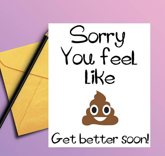 Get well card Funny get well soon card PRINTABLE CARD