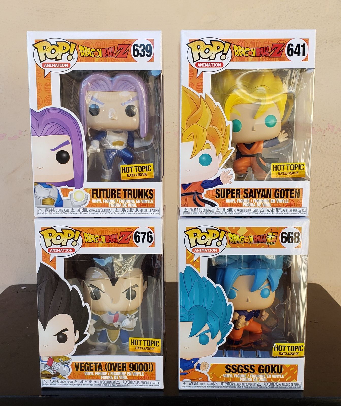 Brand New In Near Mint Condition Funko Pop Dragon Ball Z Will Be Shipped In Sorter Boxes Future Trunks 639 Goku And Gohan Vinyl Figures Trunks Super Saiyan