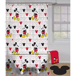 Home Mickey Mouse Shower Curtain Curtains Decor