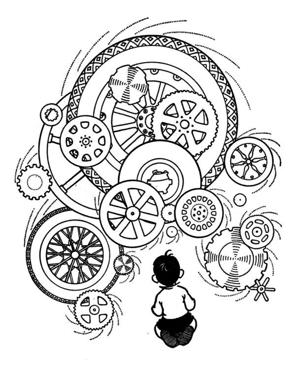 Free Mechanics Coloring Pages Steam Punk
