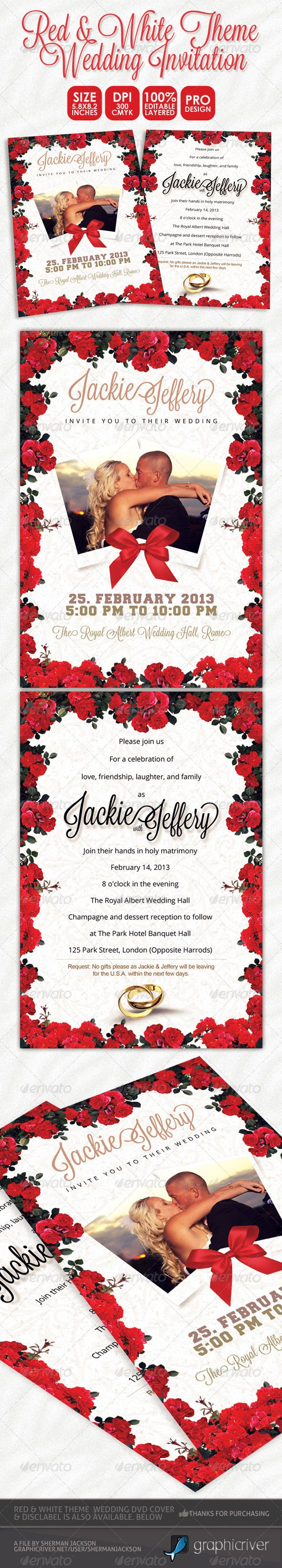 Red & White Theme Wedding Invitation Card | Wedding invitation cards ...