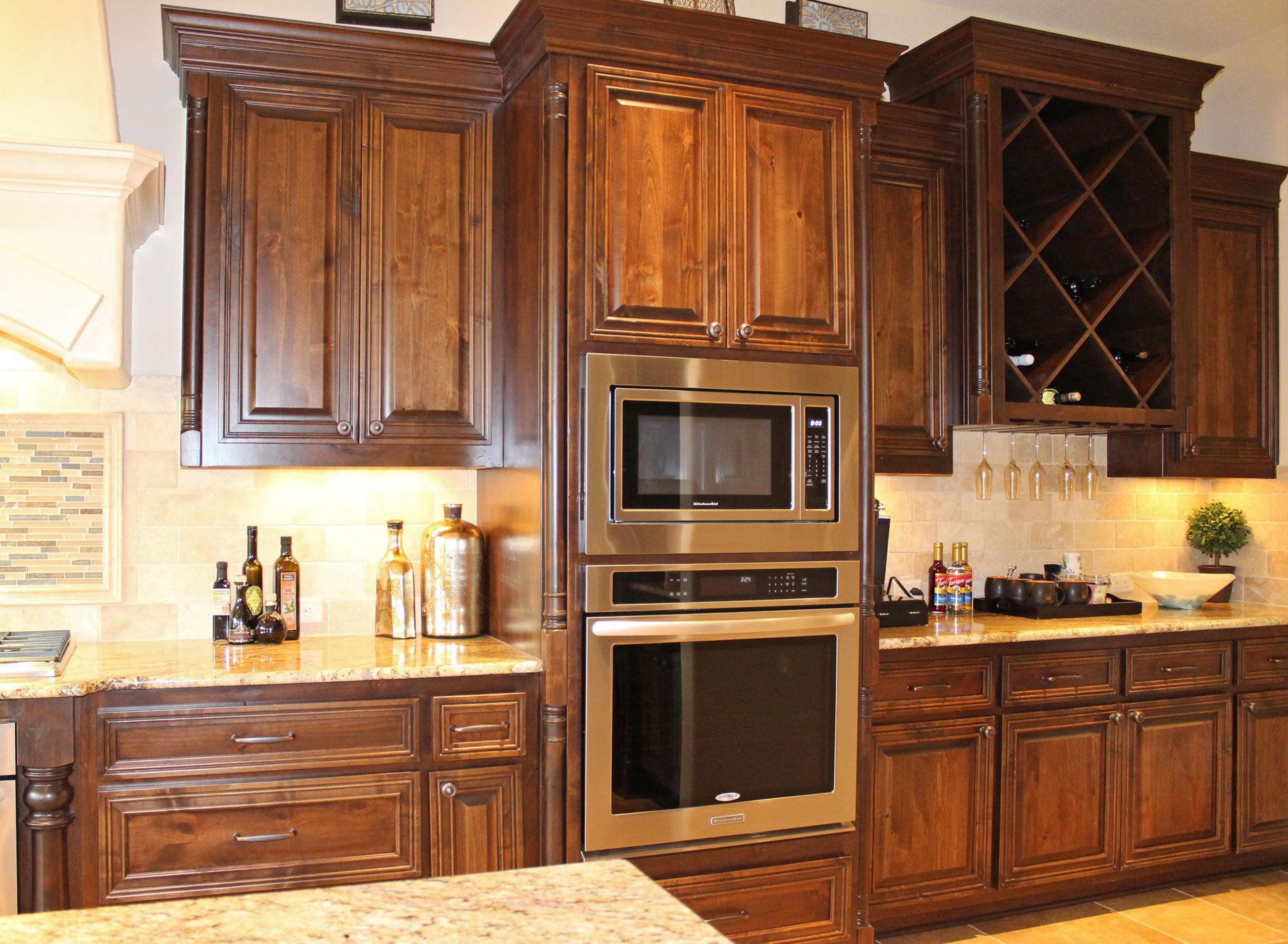 Kitchen Cabinets In Knotty Alder By Burrows Cabinets   Central Texas Builder  Direct Custom Cabinets