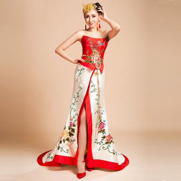 white chinese dress | Asian-inspired Wedding Dresses | JAPAN and ...