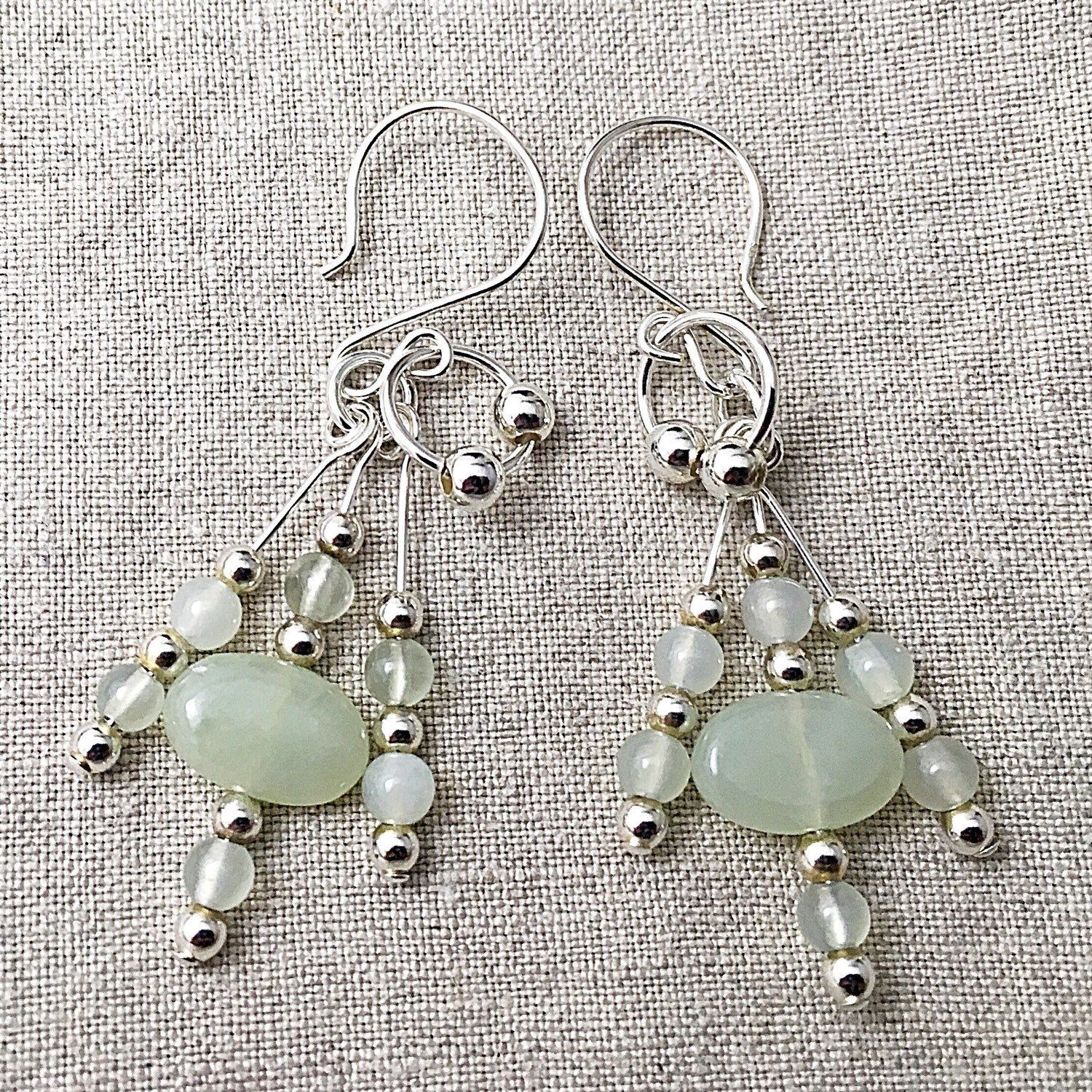 6ad53cbcf070 Free Canadian shipping until May 14th on these amazing serpentine (new  jade) and sterling silver dangle earrings. A perfect dash of colour for  your spring ...