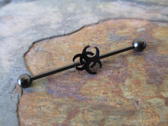 Hey, I found this really awesome Etsy listing at https://www.etsy.com/listing/189798849/black-bio-hazard-industrial-barbell