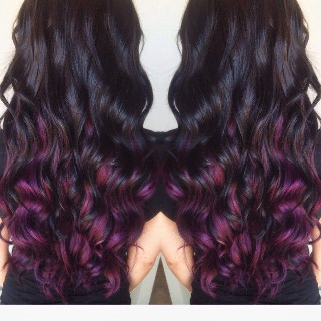 brown hair with plum underneath - Google Search | My Style ...