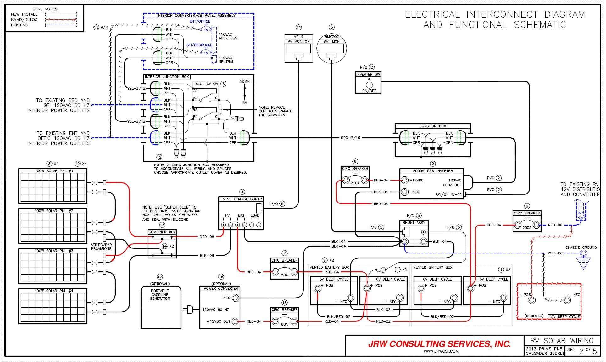 hight resolution of motorhome solar electrical diagram google search