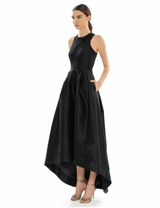 Lord And Taylor Black Hi Lo Gown Prom In 2018 Pinterest Gowns