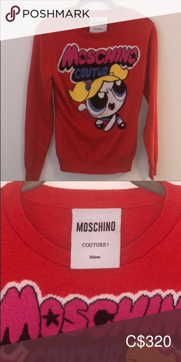 Photo of Moschino Powerpuff Mädchen roten Pullover