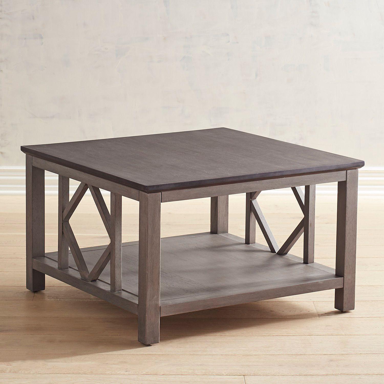 Diamond Tonal Gray Coffee Table Pier 1 Imports Coffee Table Coffee Table Farmhouse Living Room Decor Gray