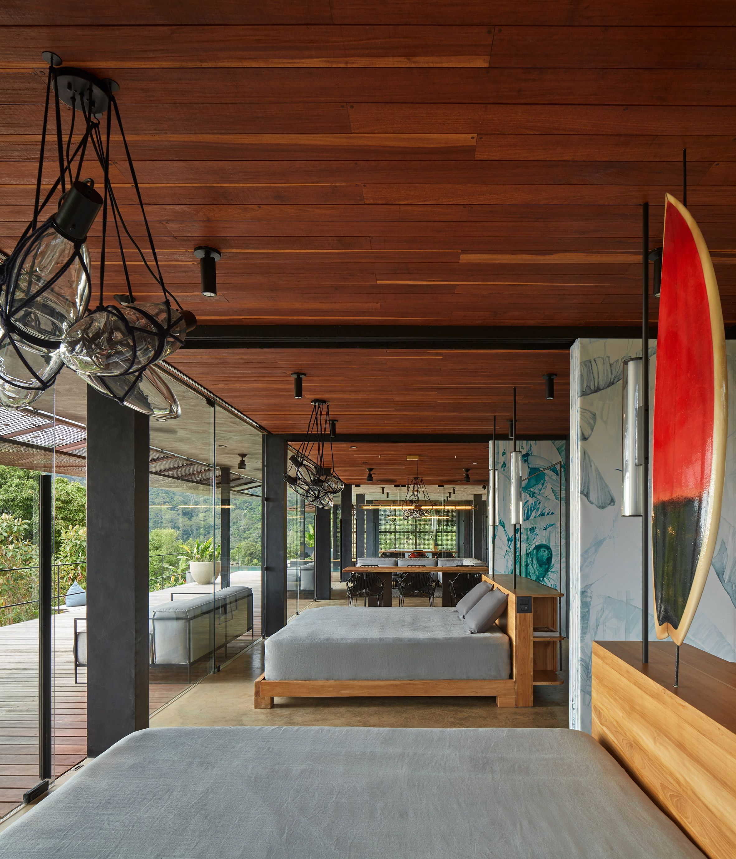 Green Roof And Charred Wood Blend Atelier Villa Into Costa Rican Jungle In 2020 Green Roof Charred Wood Exterior Cladding