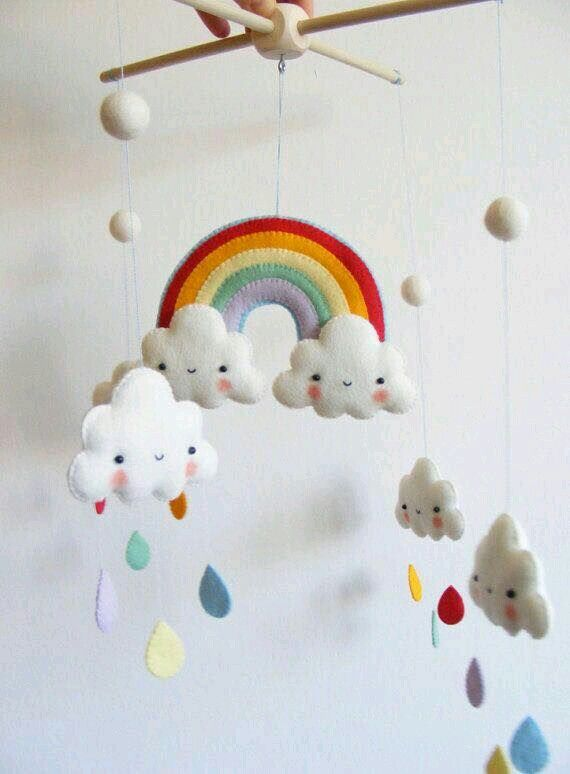 Cloud And Raindrop Mobile Mobiles And Hangings Baby