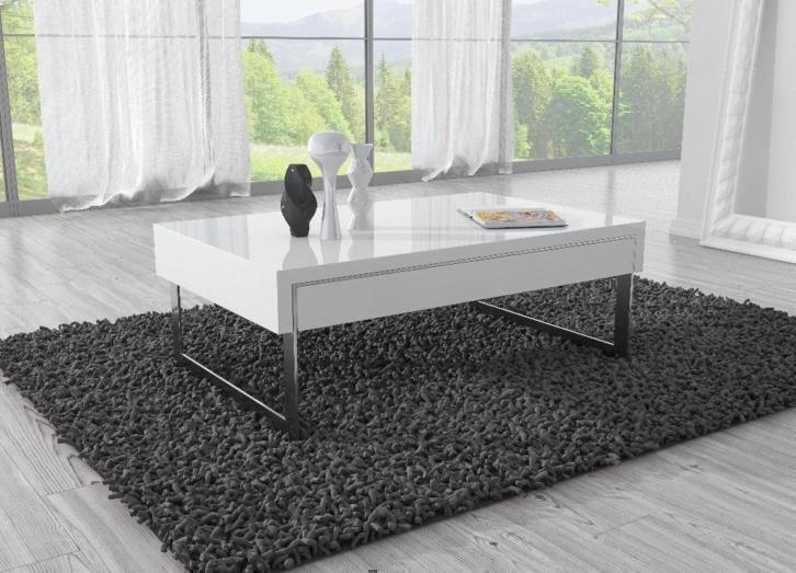 Design Salontafel, tafel, woonkamer, modern, wit hoogglans ...
