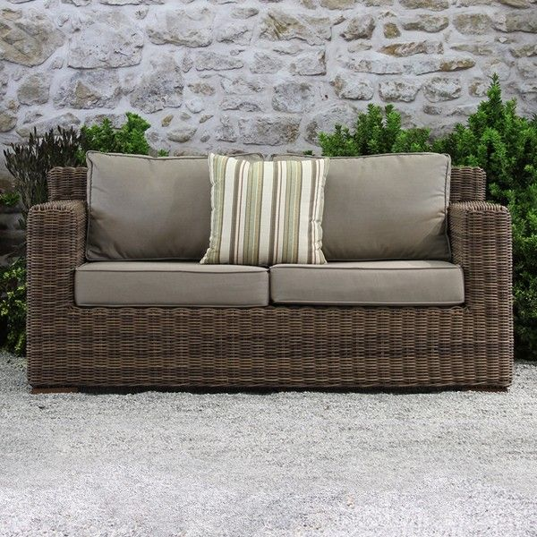 Sausalito All Weather Wicker High Back Loveseat