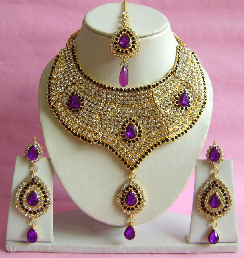 N20595 Choker Artificial Jewellery Necklace Set with Tika | Choker