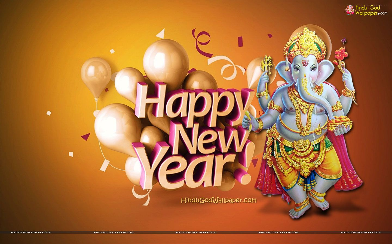 New Year Ganesh Wallpaper