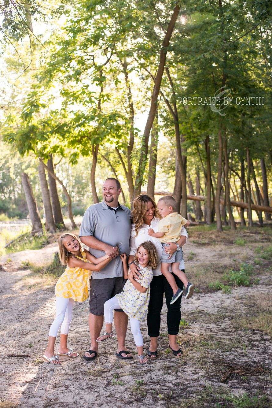 Family photos with a yellow and grey color scheme