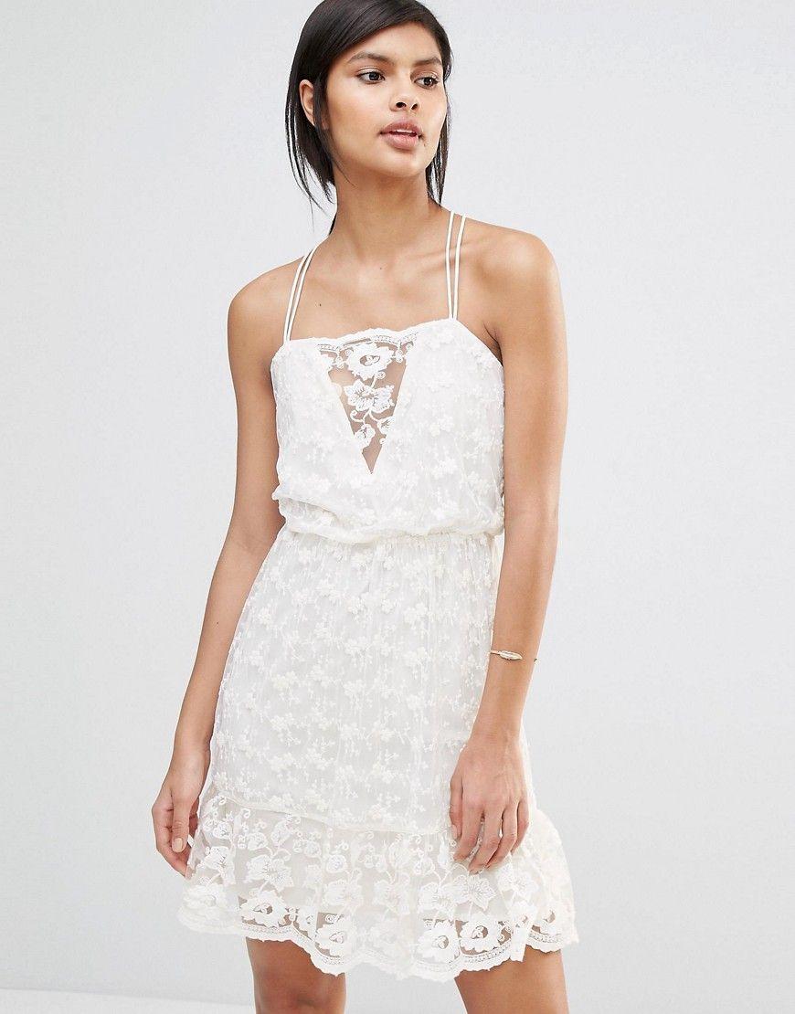 18d1ff059bbb92 Vero Moda Strappy Lace Cami Dress