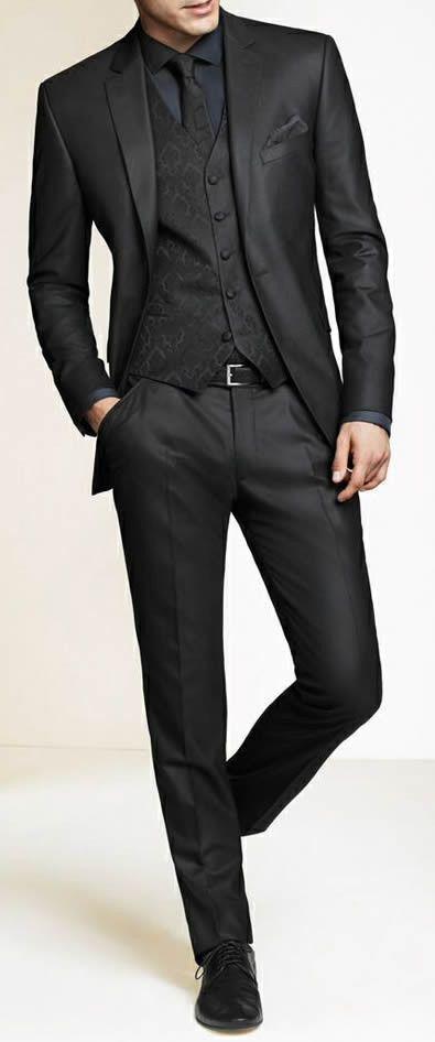 en gris oscuro groom traje personalizado boda trajes para hombres