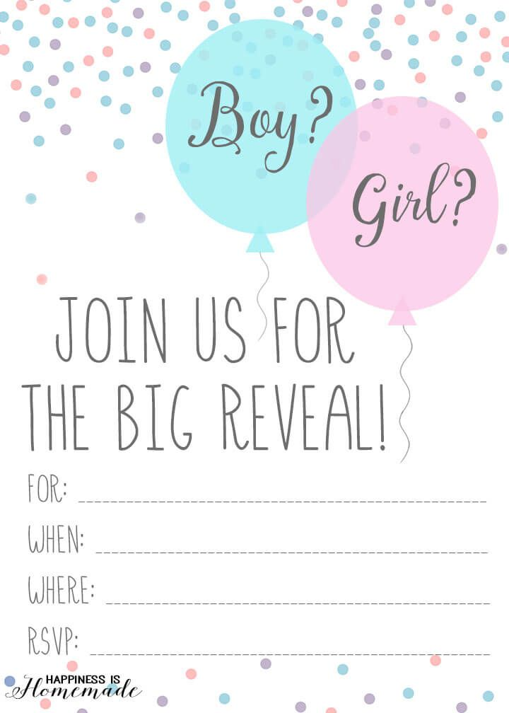 15 Adorable Baby Gender Reveal Party Invitations | Pinterest | Baby ...