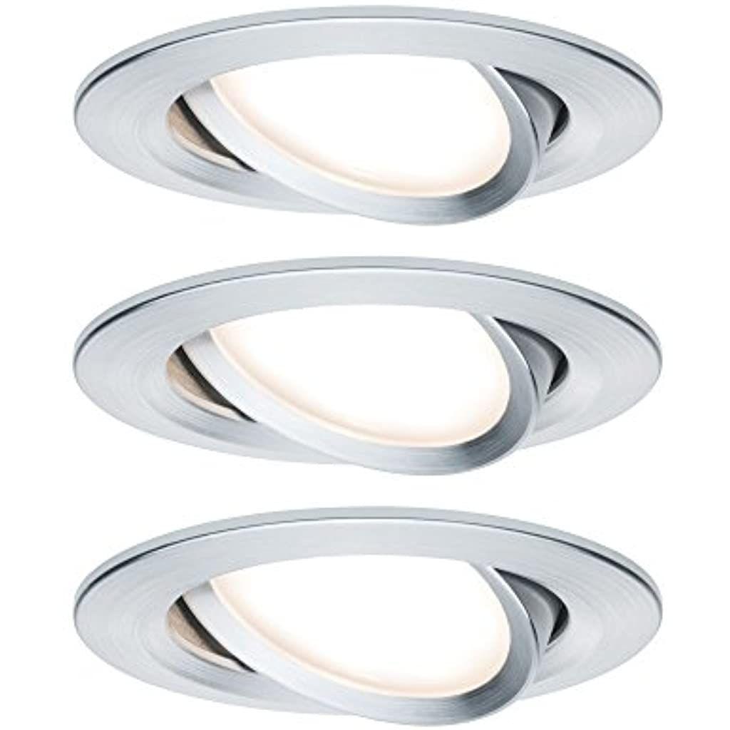 Paulmann 939 03 Premium Ebl Set Coin Slim Dimmbar Rund Schwenkbar Led 3x68w 2700k 230v 51mm Alu Gedreht Alu 9 In 2020 Einbauleuchten Deckenbeleuchtung Innenbeleuchtung