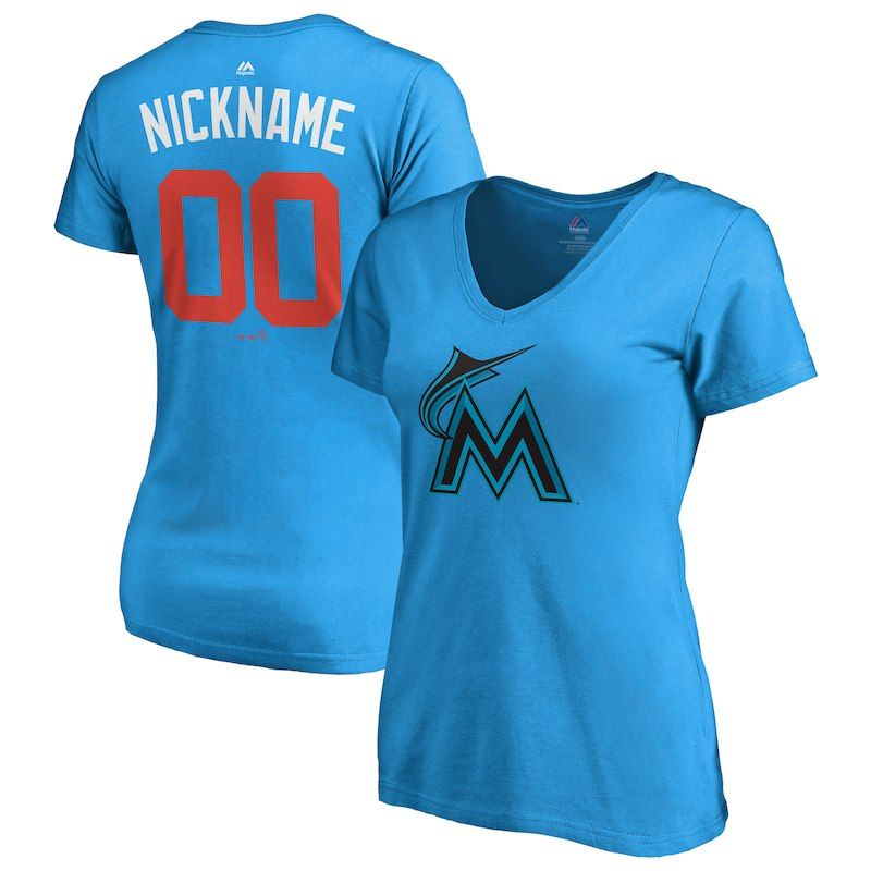 buy online 8caf4 799a6 Miami Marlins Majestic Women's 2018 Players' Weekend Pick-A ...