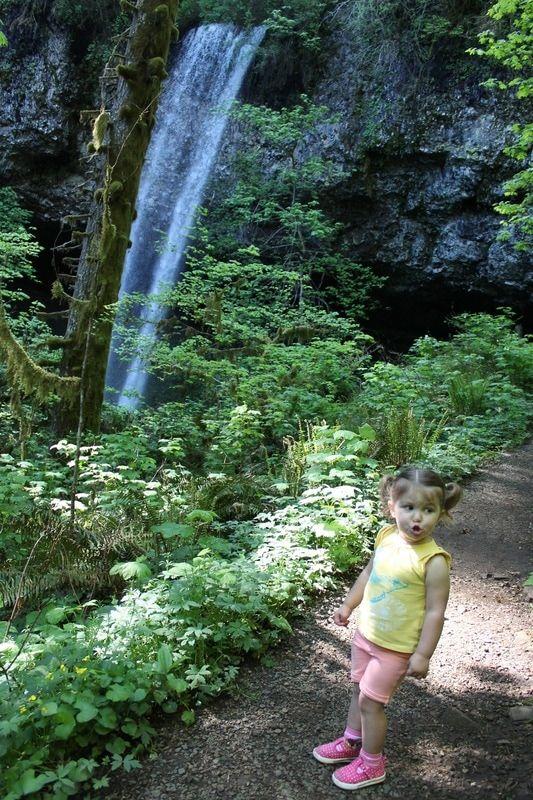 Shellburg Falls Hike. Easy 2.8 mile hike. Santiam State