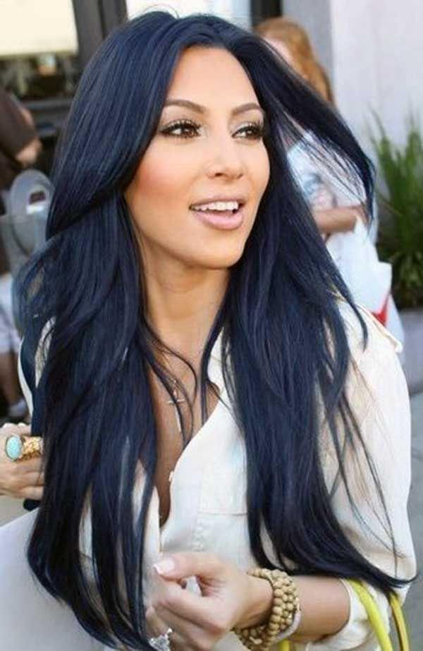 Mavi Siyah Sac Rengi Ve Mavi Siyah Sac Modelleri Siyah Sac